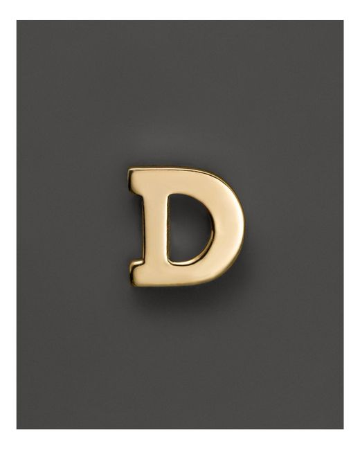 Zoe Chicco | 14k Yellow Gold Single Initial Stud Earring | Lyst