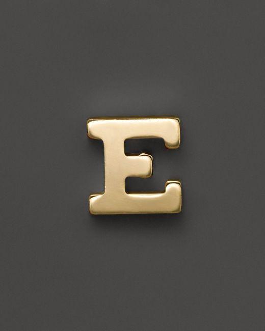Zoe Chicco   14k Yellow Gold Single Initial Stud Earring   Lyst