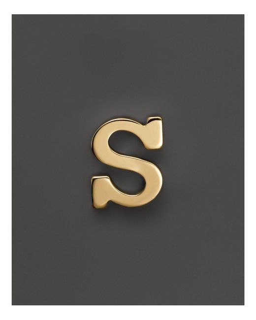 Zoe Chicco | Metallic 14k Yellow Gold Single Initial Stud Earring | Lyst