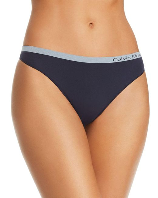 Calvin Klein - Blue Pure Seamless Thong - Lyst