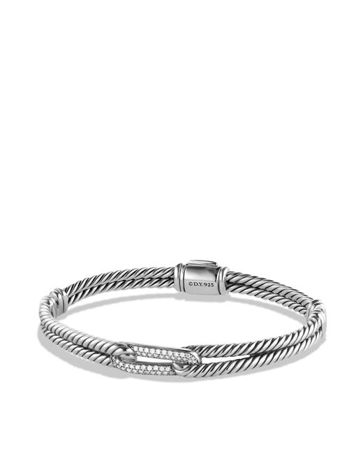 David Yurman | Metallic Petite Pavé Labyrinth Mini Loop Bracelet With Diamonds | Lyst