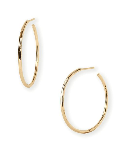 Argento Vivo | Metallic Hammered Wire Hoop Earrings | Lyst
