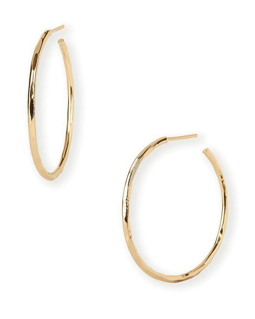 Argento Vivo   Metallic Hammered Wire Hoop Earrings   Lyst
