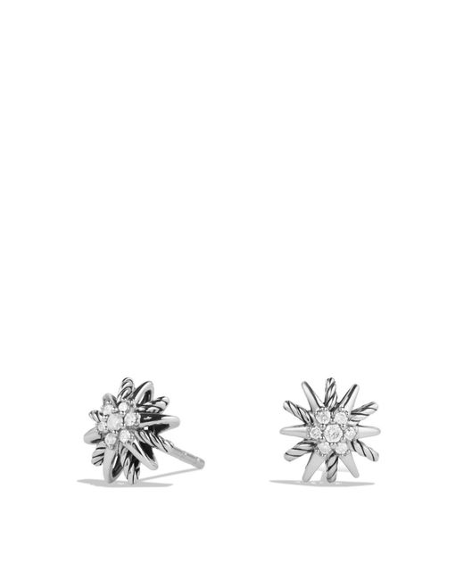 David Yurman | Metallic Starburst Earrings With Diamonds | Lyst