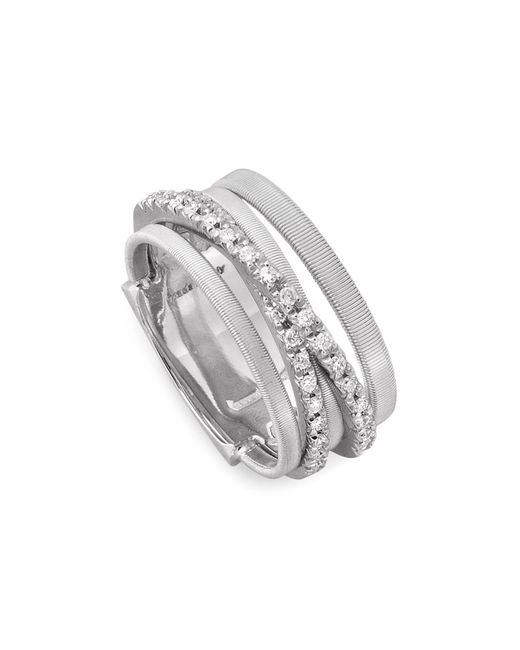 Marco Bicego | 18k White Gold Goa Five Row Ring With Diamonds | Lyst