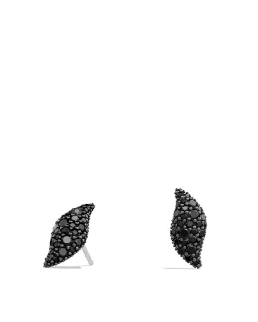 David Yurman | Hampton Cable Earrings With Black Diamonds | Lyst
