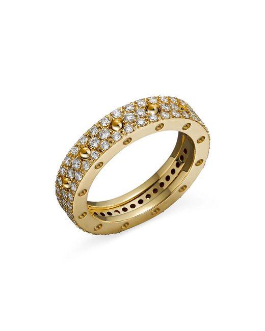 Roberto Coin | Metallic 18k Yellow Gold Pois Moi Diamond Pave Ring | Lyst
