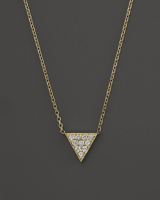 KC Designs | Metallic Diamond Triangle Pendant Necklace In 14k Yellow Gold, 16"