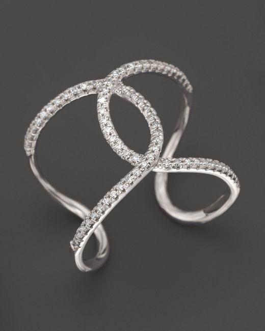 KC Designs | Diamond Interlocking Ring In 14k White Gold | Lyst