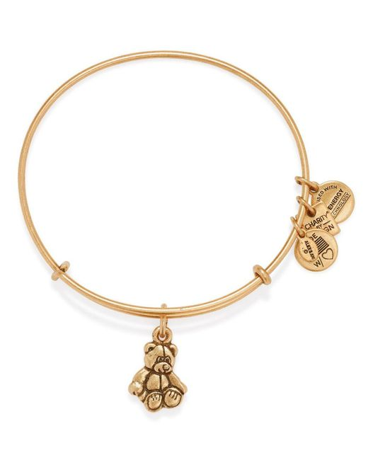 ALEX AND ANI | Metallic Little Brown Bear Expandable Wire Bangle, Charity By Design Collection - 100% Exclusive | Lyst