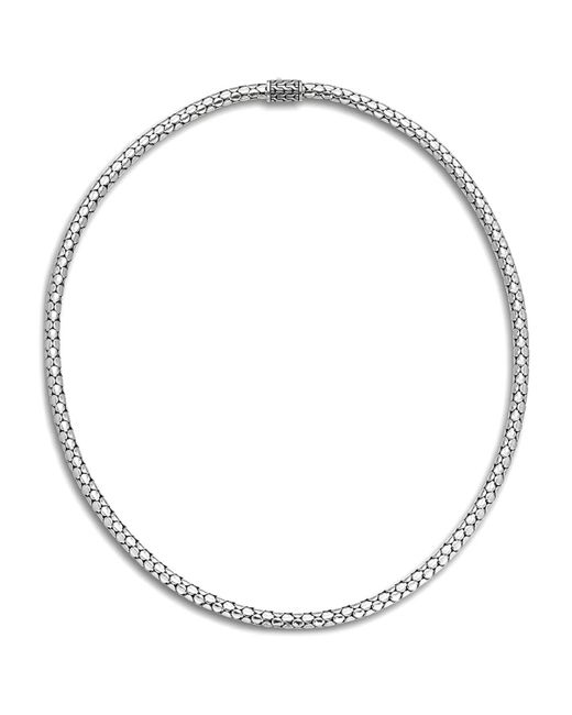 John Hardy | Metallic Sterling Silver Dot Small Chain Necklace, 18"