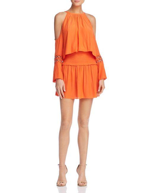 Ramy Brook - Orange Libby Cold-shoulder Dress - Lyst