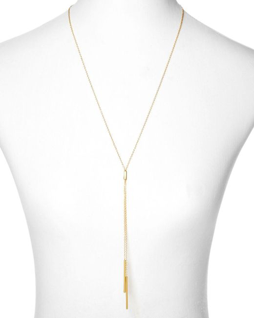 "Gorjana   Metallic Mave Lariat Necklace, 18.5""   Lyst"