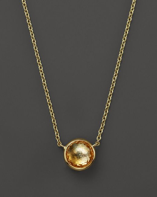 Ippolita | 18k Gold Mini Lollipop Necklace In Orange Citrine, 16"