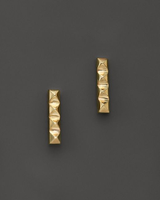 Zoe Chicco | Metallic 14k Yellow Gold Spiked Bar Stud Earrings | Lyst
