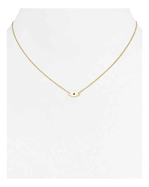 Jennifer Zeuner | Metallic Nazar Mini Evil Eye Necklace, 16"