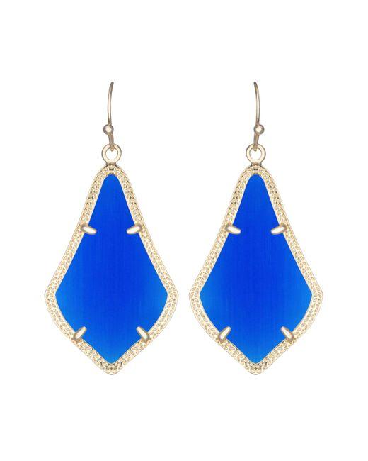 Kendra Scott   Blue Alex Earrings   Lyst