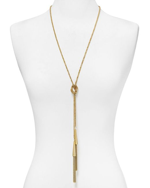 "Kendra Scott | Metallic Phara Necklace, 48"" | Lyst"
