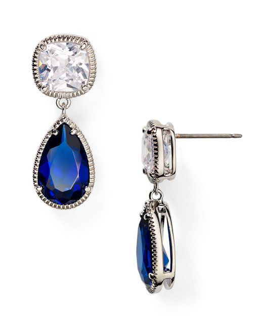 Carolee | Blue Uptown Girl Double Drop Earrings | Lyst