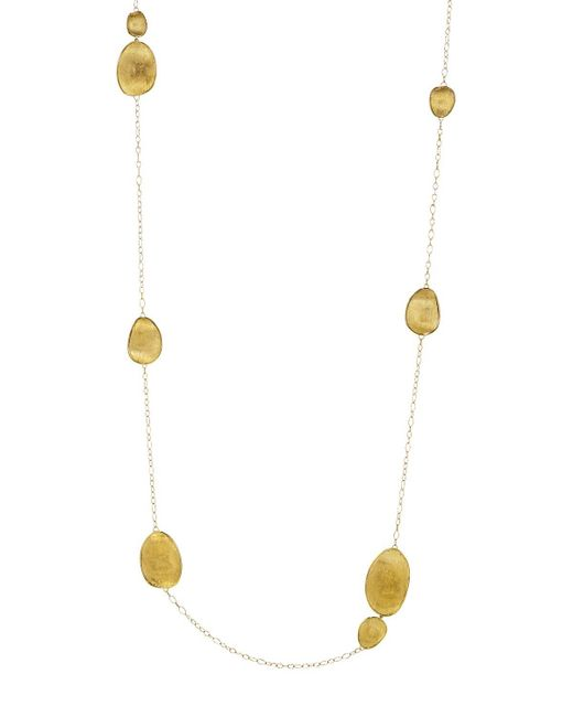 Marco Bicego | Metallic 18k Yellow Gold Lunaria Necklace, 39.25"