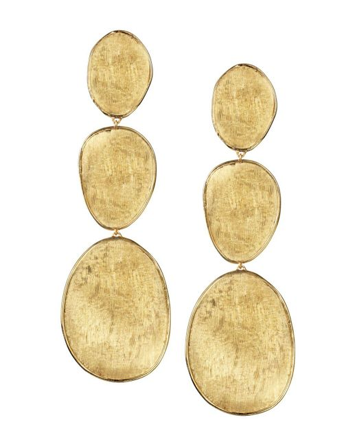 Marco Bicego   Metallic 18k Yellow Gold Lunaria Three Drop Earrings   Lyst