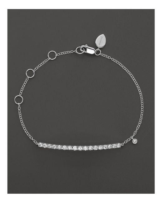 Meira T | 14k White Gold Diamond Large Bar Bracelet | Lyst