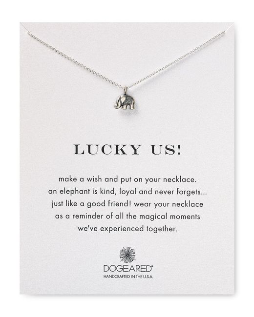 Dogeared | Metallic Lucky Us Necklace, 16"