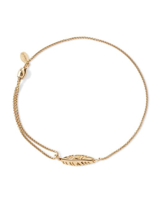 ALEX AND ANI | Metallic Precious Metals Symbolic Feather Pull Chain Bracelet | Lyst