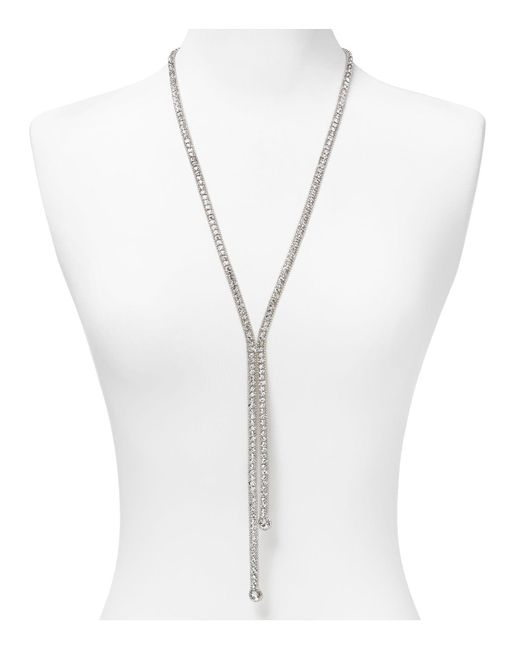 ABS By Allen Schwartz | Metallic Lariat Necklace, 26"