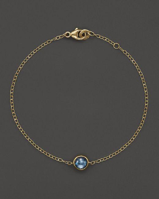 Ippolita   Metallic 18k Gold Mini-lollipop Bracelet In London Blue Topaz   Lyst