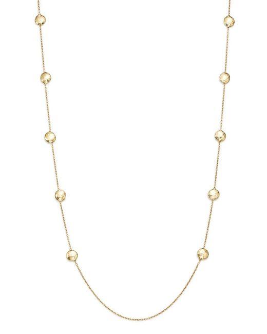 "Ippolita   Metallic 18k Gold Glamazon Pinball Long Station Necklace, 38""   Lyst"