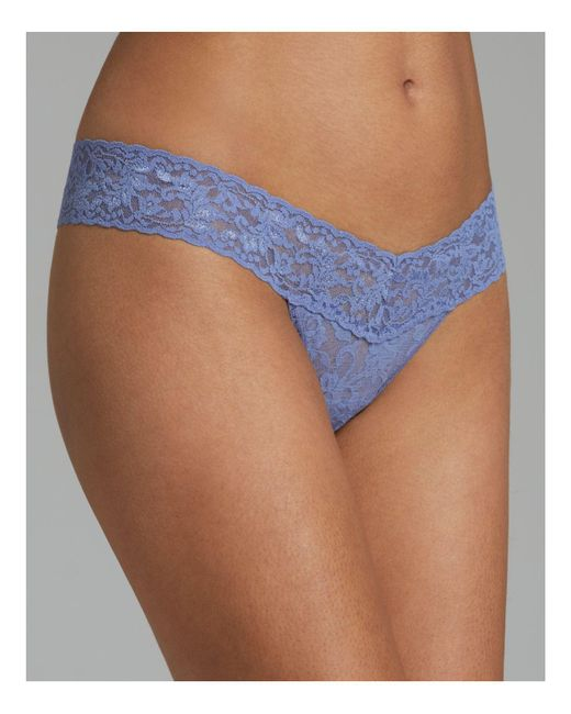 Hanky Panky | Blue Low-rise Thong | Lyst