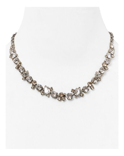 Sorrelli | Metallic Crystal Necklace, 16.25"