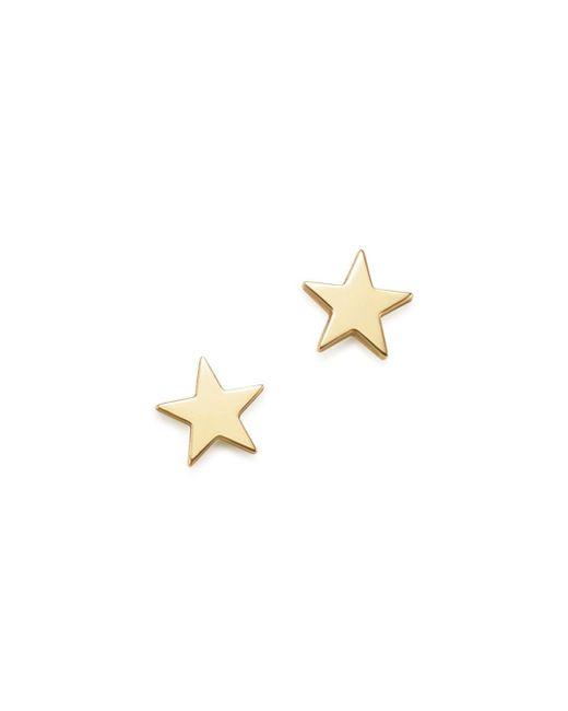 Zoe Chicco - Metallic 14k Yellow Gold Itty Bitty Star Earrings - Lyst