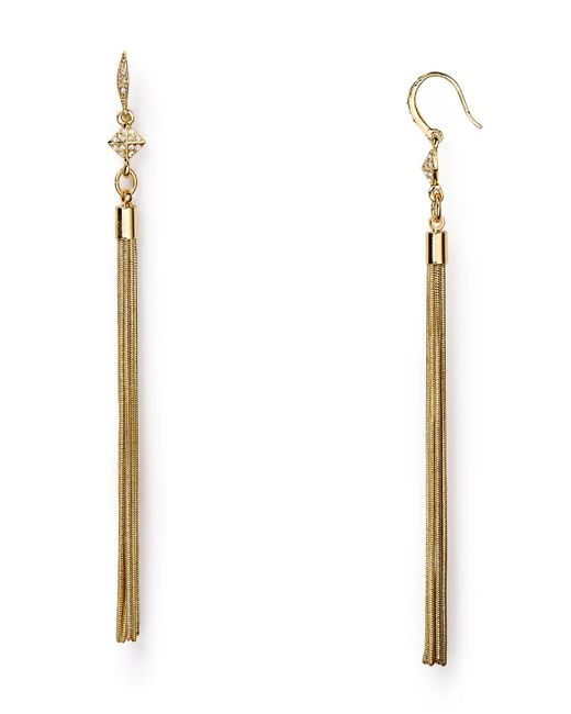 ABS By Allen Schwartz | Metallic Tassel Earrings | Lyst