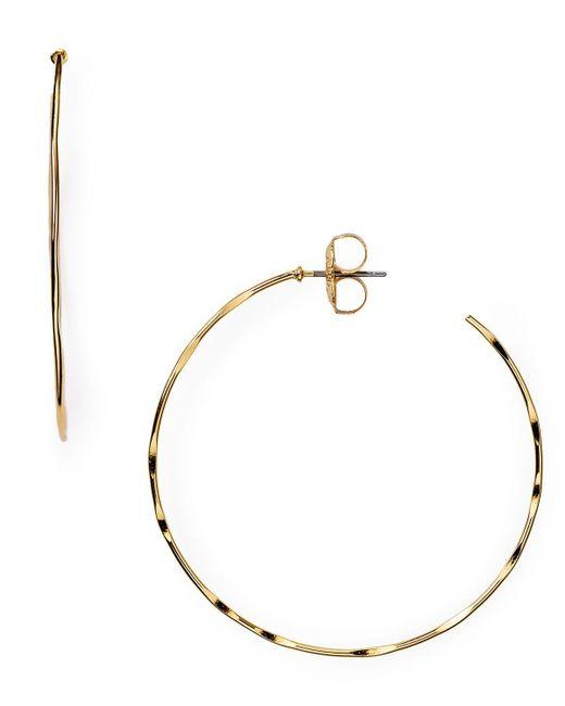 Robert Lee Morris   Metallic Hammered Hoop Earrings   Lyst