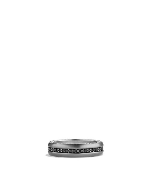 David Yurman | Metallic Streamline Narrow Band Ring With Black Diamonds for Men | Lyst