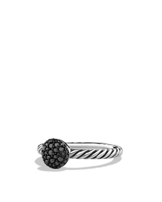 David Yurman   Metallic Petite Pavé Ring With Black Diamonds   Lyst