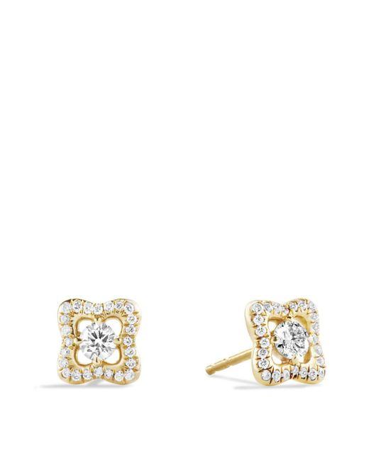 David Yurman | Metallic Venetian Quatrefoil Earrings With Diamonds In Gold | Lyst