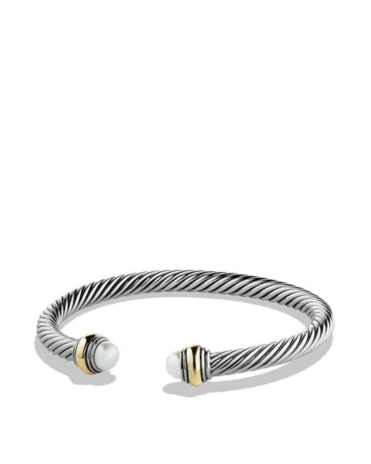 David Yurman | White Cable Classics Bracelet With Pearl And Gold | Lyst