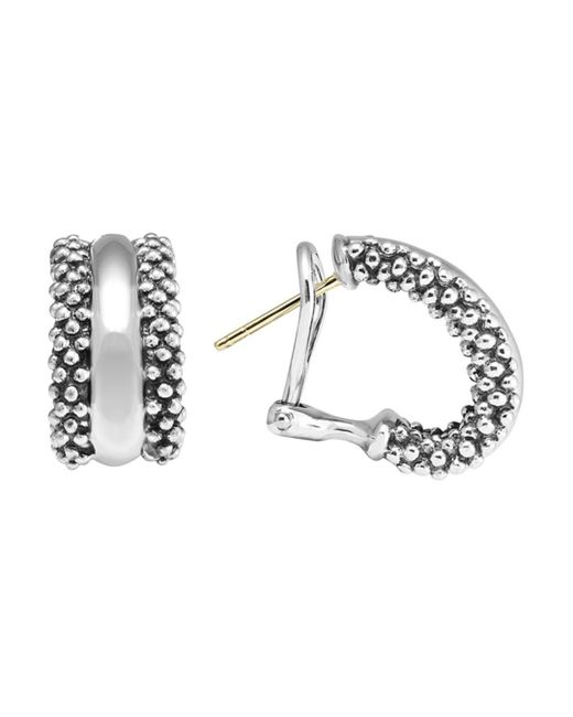 Lagos - Metallic Caviartm Hoop Earrings In Sterling Silver - Lyst