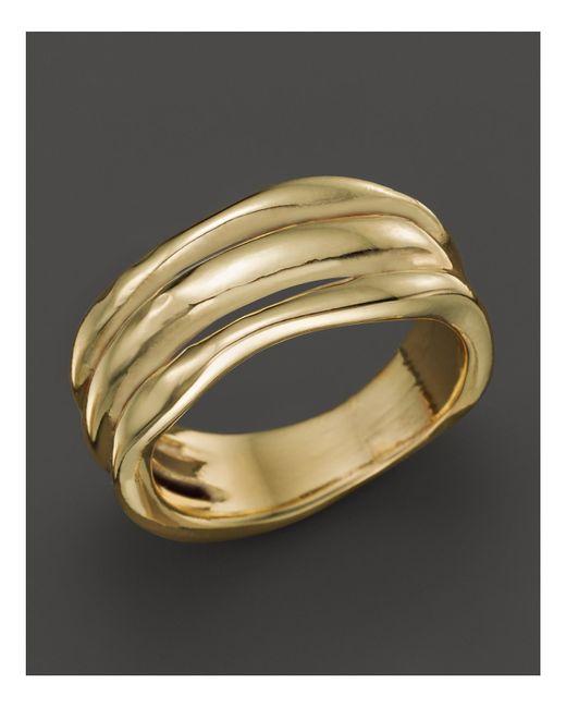 Ippolita | Metallic 18k Gold Glamazon Triple Band Squiggle Ring | Lyst