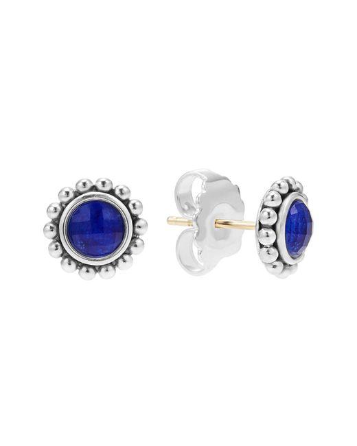 Lagos   Blue Sterling Silver Maya Lapis Doublet Small Earrings   Lyst