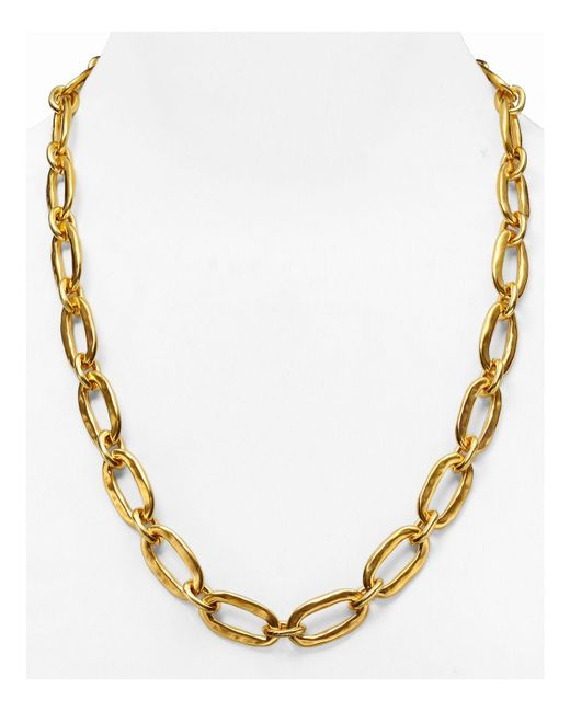 Uno De 50 | Metallic Chain Link Necklace, 24"