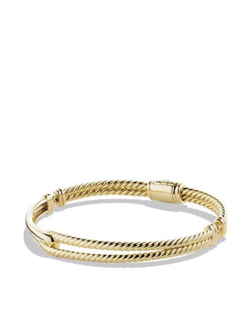 David Yurman | Metallic Petite Pavé Labyrinth Single-loop Bracelet In Gold | Lyst