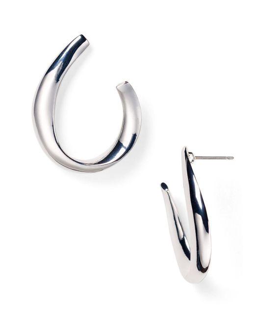 Ralph Lauren | Metallic Lauren Sculptural Hoop Earrings | Lyst
