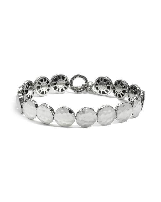 John Hardy | Metallic Women's Sterling Silver Palu Small Round Disc Bracelet | Lyst