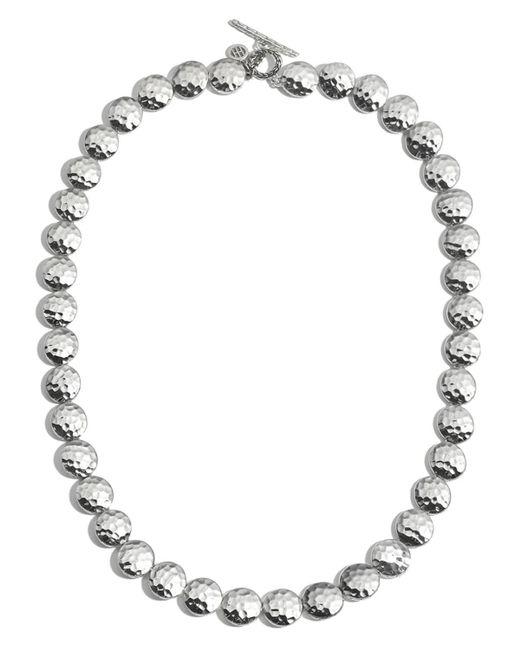 "John Hardy | Metallic Sterling Silver Palu Disc Necklace, 18"" | Lyst"
