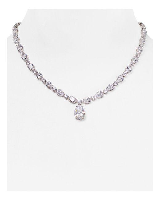 "Nadri | Metallic Pear Pendant Necklace, 16"" | Lyst"