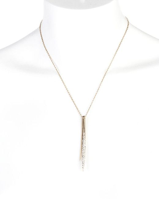 "Alexis Bittar | Metallic Miss Havisham Spear Pendant Necklace, 16"" | Lyst"